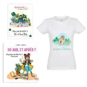 """Pack exclusif Marie Crayon livre """"30 ans, et après ?"""" + t-shirt blanc femme """"Proud Mama"""" + carte dédicacée OFFERTE"""