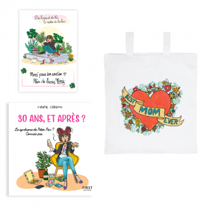 "Exclusive book pack ""30 years and after?"" + tote bag ""Best mom ever"" + FREE signed card"