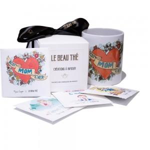 Pack exclusif Marie Crayon mug + boîte de thé sachets illustrés (8, 16 ou 24)