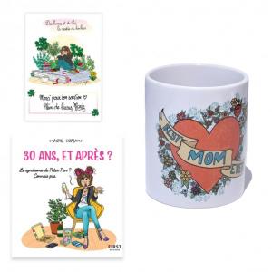 """Pack exclusif Marie Crayon livre """"30 ans, et après ?"""" + mug blanc """"Best Mom Ever"""" + carte dédicacée OFFERTE"""