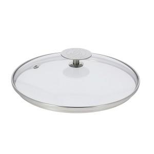 Couvercle en verre cerclé inox 18 cm De Buyer