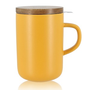 Tisanière mug Juliet en grès jaune 475 ml OGO