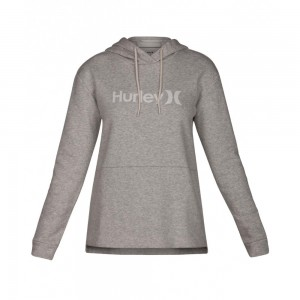 Sweat à Capuche Hurley One & Only Fleece Dark Grey