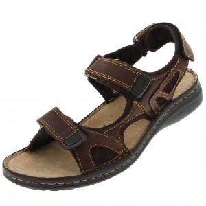 Galdric marron sandale