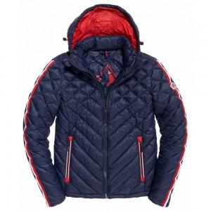 Fleece Jacket Superdry Quilt Fade Fuji Navy Mix