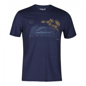 T-shirt Hurley Rolling Waves Ss Deep Royal