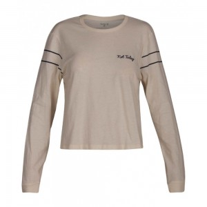 T-shirt Hurley Not Today Perfect Tee L/s Light Creme