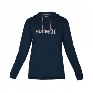 Sweat Capuche Hurley One & Only Fleece Blue Force