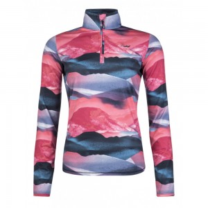 Polaire Protest Suggy 1/4 Zip Top Tulip Red